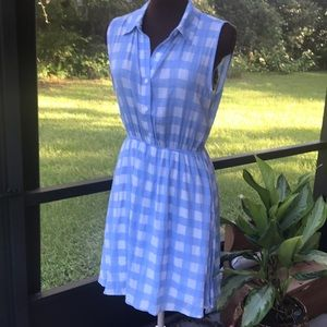 Baby Blue & White Gingham Monteau Dress